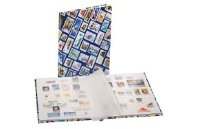 STAMP COLLECTION BOOK HOBBY WHITE PAGES